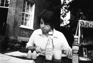 Paul McCartney eating meat